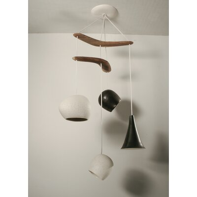 Lightexture Claylight Boomerang Four Pendant Chandelier