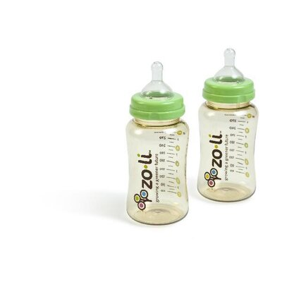 Zo-li Wide Neck Anti Colic Bottle (Pack of 2)