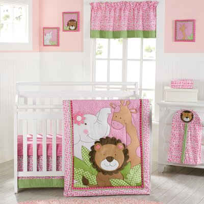 Sassy Jungle Friends Crib Bedding Collection