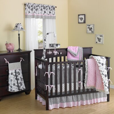 Laugh, Giggle & Smile Versailles Pink Crib Bedding Collection