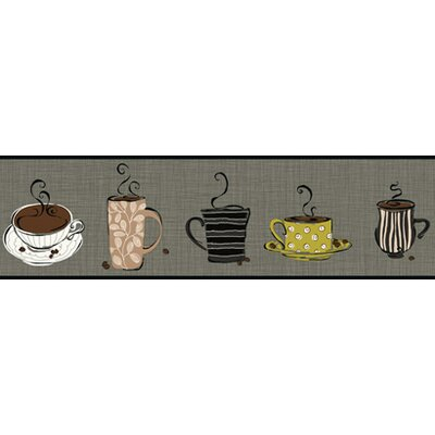 York Wallcoverings Bistro 750 Coffee Mug Prepasted Border