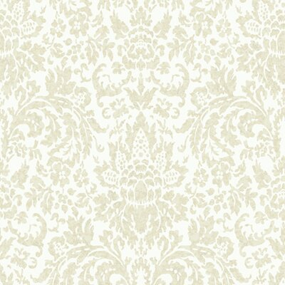 Proper English Mottled Damask Wallpaper
