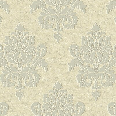 Proper English Etched Damask Wallpaper