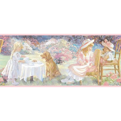 York Wallcoverings York Kids IV Tea Party Wallpaper Border