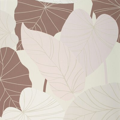 York Wallcoverings Barbara Becker Raised Surface Banana Leaves Collage Wallpaper
