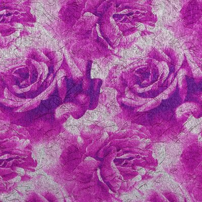 York Wallcoverings Bling Lavish Rose Wallpaper
