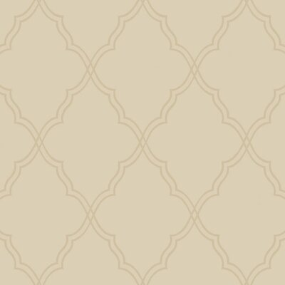 York Wallcoverings Candice Olson Dimensional Surfaces Moroccan Lattice Sand Wallpaper
