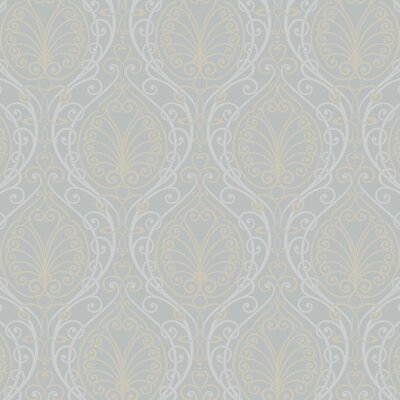 York Wallcoverings Candice Olson Dimensional Surfaces Metallic Filigree Damask Wallpaper