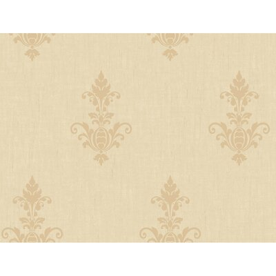 Heritage Home Raised Damask Medallion Wallpaper