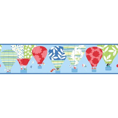York Wallcoverings Peek-A-Boo Hot Air Balloon Wallpaper Border