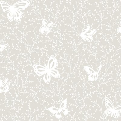 Peek-A-Boo Butterfly Garden Wallpaper