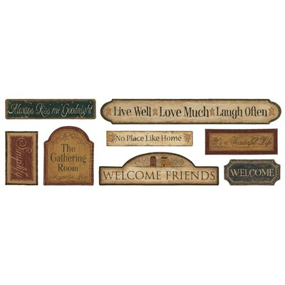 Mural Portfolio II Country Signs On Weathered Wood Wall Sticker