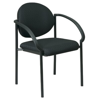 Office Star Products Stack Chair with Arms and Black Frame Quote   (special order)