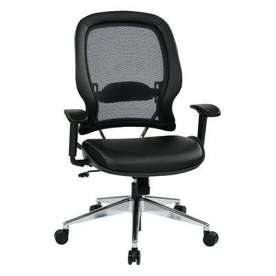 "Office Star Products Space 23"" Professional Air Grid Chair with Eco Leather Seat"