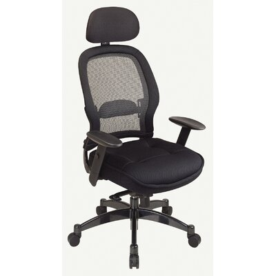 Office Star Products SPACE Deluxe Matrex High-Back Mesh Executive Chair with Arms