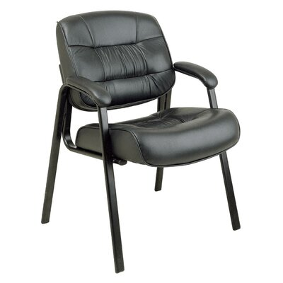 Office Star Products Visitors Leather Chair