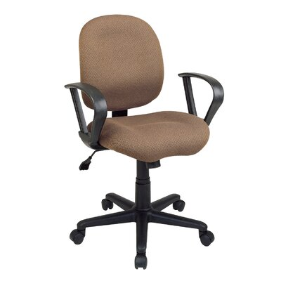 Office Star Products Sculptured Mid-Back Task Chair with Arms