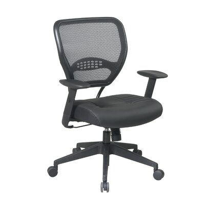 Office Star SPACE Deluxe Mid-Back Managerial Chair with Arms