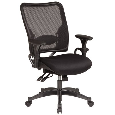 Office Star Products SPACE Dual Function Mid-Back Managerial Chair with Arms