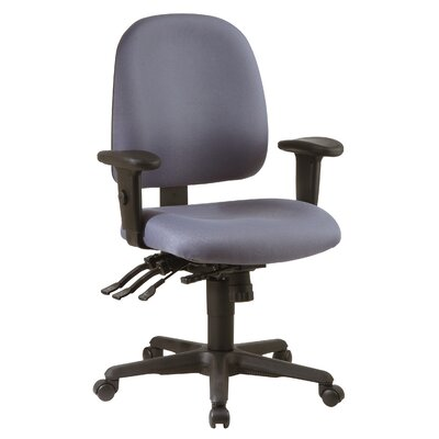 Office Star Products Ergonomic Mid-Back Office Chair with Arms