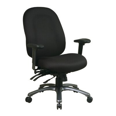 Office Star Products High-Back Office Chair with Seat Slider