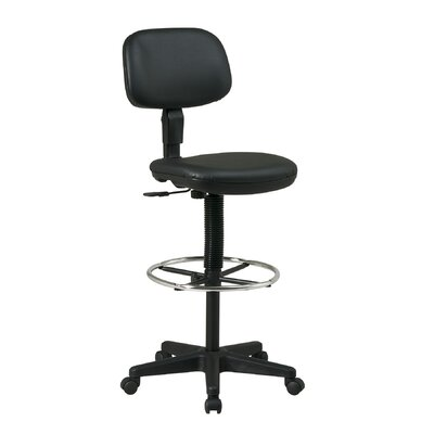 Office Star Products Height Adjustable Drafting Chair with Dual Wheel
