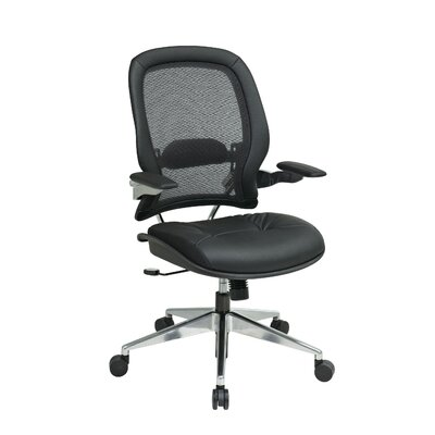 Office Star Products Professional High-Back Leather Air Grid Back Managerial Chair
