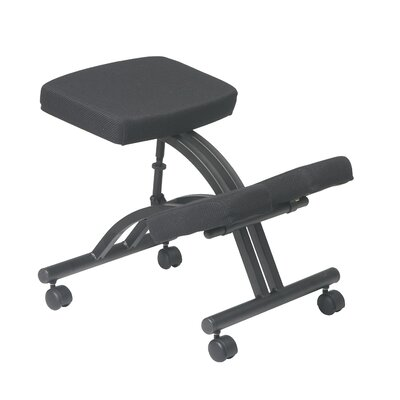 Office Star Products Ergonomic Knee Chair with Dual Wheel Casters