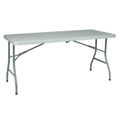 Office Star Products 5' Resin Multi Purpose Center Fold Table with Wheels