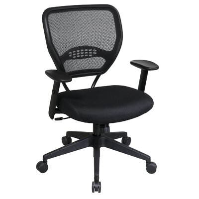 Office Star Products SPACE Deluxe Mid-Back Task Chair with Arms