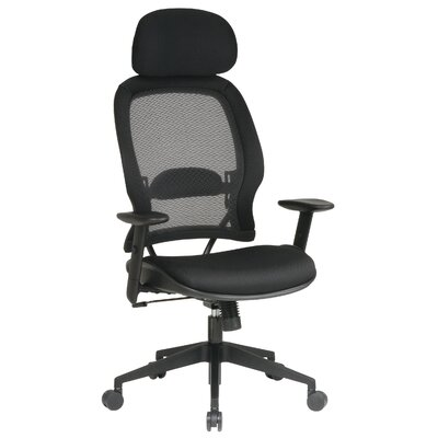 Office Star Products Mesh Back Air Grid Deluxe Office Chair with Head Rest