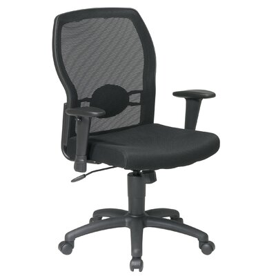 Office Star Products Screen Mid-Back Mesh Office Chair with Adjustable Arms
