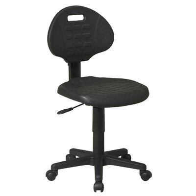 Low Black Urethane Task Chair
