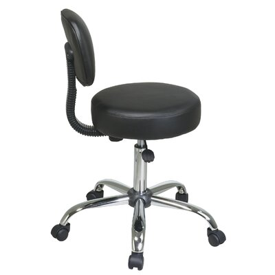 Office Star Products Vinyl Seat and Back Chrome Finish Drafting Chair