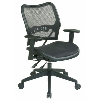Office Star Products AirGrid Seat and Back Space Seating Deluxe Office Chair