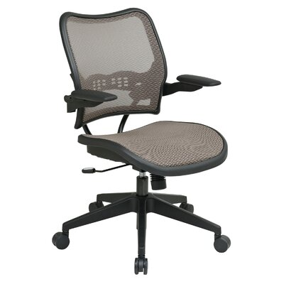 Office Star Products Air Grid Back and Mesh Seat Space Seating Latte Deluxe Office Chair