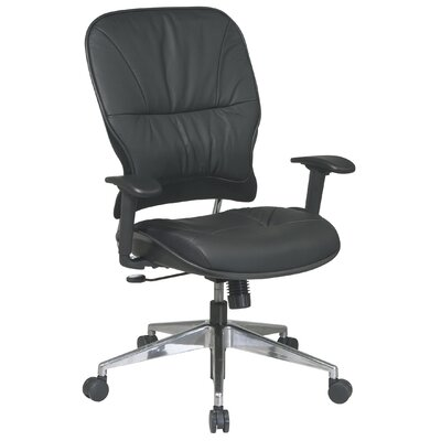 Office Star Products Seating Space Mid-Back Leather Managerial Chair