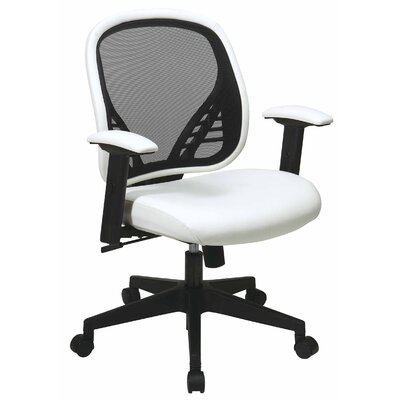 Office Star Products Space Seating Mid-Back Mesh Managerial Chair with DuraGrid