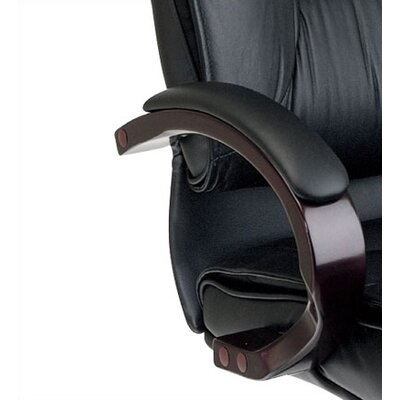 Office Star Products Leather High-Back Office Chair with Arms