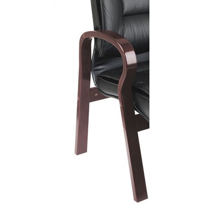 Office Star Products Deluxe Leather Visitors Chair with Top Grain