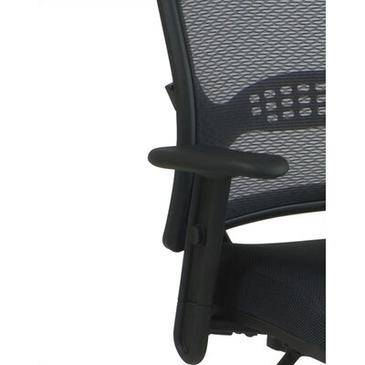 Office Star Products SPACE Mid-Back Managerial Chair with Mesh Seat and Adjustable Arms