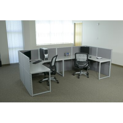Office Star Products Box Office Typical Four Configuration Computer Workstation