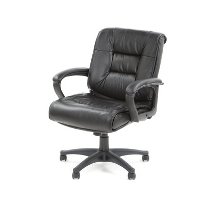 Office Star Products Deluxe Mid-Back Managerial Chair with Arms