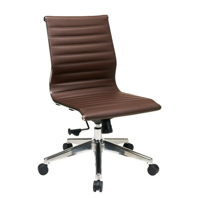 Office Star Products Mid-Back Eco Leather Armless Office Chair
