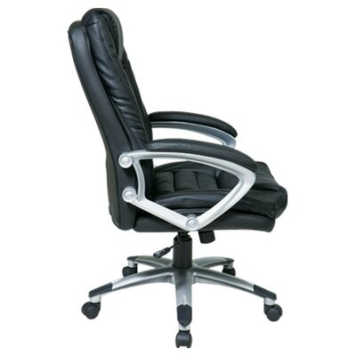 "Office Star Products 25"" Back Leather Executive Chair"