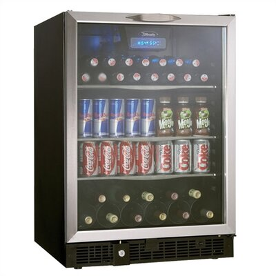 Danby Silhouette 5.3 Cubic Ft. Beverage Center in Black with Stainless Steel Door Trim