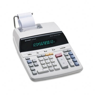 Sharp EL-2192RII Desktop Calculator, 12-Digit Fluorescent, Two-Color Printing