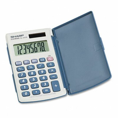 Sharp EL-243SB Basic Calculator, Eight-Digit LCD
