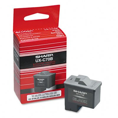 Sharp UXC70B Inkjet Cartridge, Black