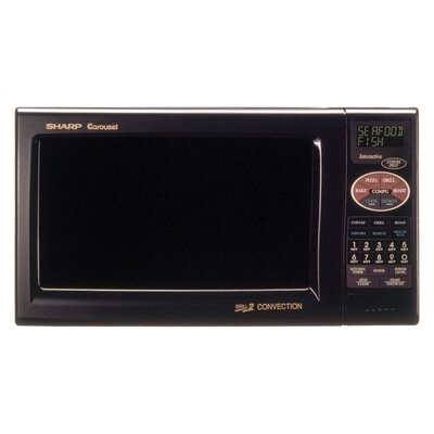Sharp 900W Grill 2 Convection Microwave in Dark Gray